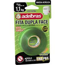Fita Dupla Face Fixa PRO Massa Acrilic 24MMX2M - Adelbras