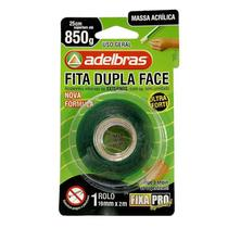 Fita Dupla Face Massa Acrílica 19mm x 2m Fixa Pro Adelbras -
