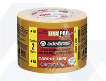 Fita Dupla Face Papel Carpet Tape  Fixa Pro - 2 rolos - Adelbras