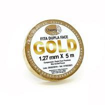 FITA DUPLA FACE para Prótese e Lace (5 mt x 1,27 cm) - Gold - W Tape
