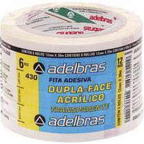 Fita Dupla Face Polipropileno 12MMX30MTS. - Adelbras