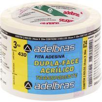Fita Dupla Face Polipropileno 24MMX30MTS. - Adelbras