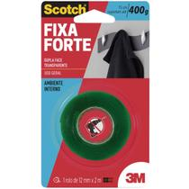 Fita Dupla Face Transparente Fixa-Forte 12MMX2M 3M -