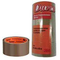 Fita Durex Empacotamento 3M 45cmx40m Marrom - 05 Unidades -