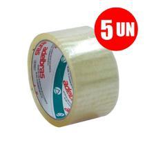 Fita Embalagem Transparente 48x100 Adelbras 5 UN -