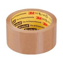 Fita Embalar 3m 45x45 Marrom Kit C/4 -