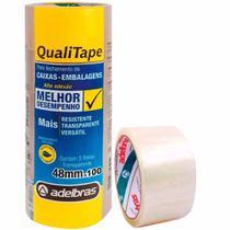Fita empacotamento 48x100 transparente (pp) / 5rl / adelbras -