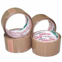 Fita empacotamento 48x40 marrom (pp) / 4rl / adelbras -