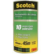 Fita Empacotamento Transparente Scotch 45mm x 45m 4 UN 3M -