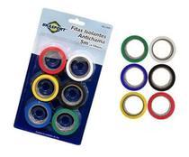 Fita Isolante Antichama Coloridas 19mm X 5mts Com 6 Rolos - Brasfort