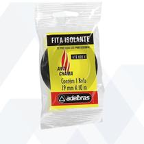 Fita Isolante Antichamas 19MM X 20M - Adelbras Preta -