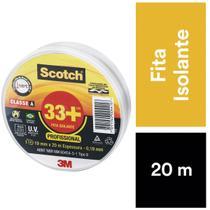 Fita Isolante Preta 20M Scotch 33+ 3M -