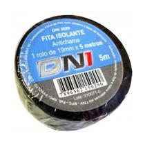 Fita isolante pvc com cola preto 5m isolacao de ate 750v/80 dni -
