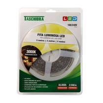 Fita Led 2,5W/M 12V 3000K ( Rolo com 5M + Fonte )  14040108-09  - Taschibra -