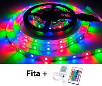 Fita LED 2835 RGB Colorida 5m 300 LEDS IP20 + Controle - Boreal Led