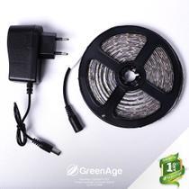 Fita LED 3528 12v Branco Frio IP65 5 Metros + Fonte Kit 5 - Green Age