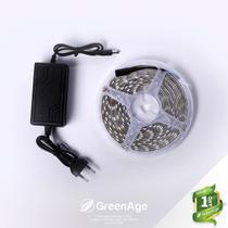 Fita LED 5050 12v Branco Frio IP65 5 Metros + Fonte Kit 5 - Green Age