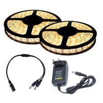 Fita LED 5050 Branco Quente 10m com Fonte 2A - Kit Led