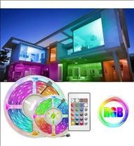 Fita Led 5050 Rgb Colorida Dupla Face 5mt + Kit Bivolt + Fonte + controle - Hard 7