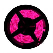 Fita led 5050 rosa c/ silicone rolo c/ 5 metros 12v - Still Leds