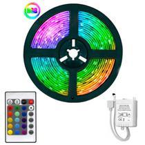 Fita Led 5m Ultra RGB 5050 Prova D'agua Fácil Instalação Com Controlador + Controle Remoto - Cbc