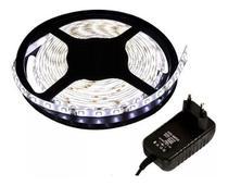 Fita LED Branco Frio 3528 5 metros 24W com fonte - Durawell
