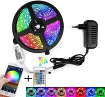 FIta Led Colorida 5 Metros 5050 Wifi - Controle de por App e Voz - Paes & Almeida