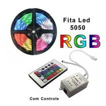 Fita Led Colorida 5050 Rgb 5m 16 Cores Controle Barato - Mrvendas