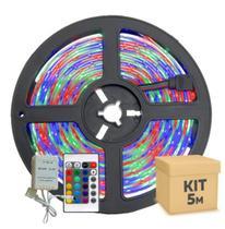 Fita Led Colorida RGB 3528w  5m Prova D'água + Controle -