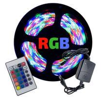 Fita Led Colorida RGB 5050 5 Metros com Fonte e Controle - Ctb