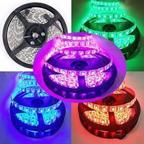 Fita LED Colorida (RGB) SMD 5050 - IP20 - Rolo com 5 metros com 60 Leds por metro - Paes & Almeida