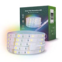 Fita LED Inteligente RGBW, 5 Metros, c/ Adesivo, Iluminação Controlada por WiFi, Compatível com Amazon Alexa e Google Home, 24W, Branca e Colorida - Conectoz