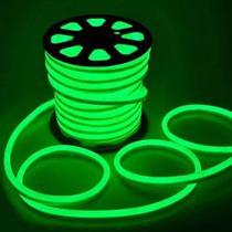 Fita Led Neon Verde Mangueira Flexível 20 Metros + Fonte - Super Led
