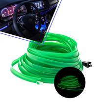 Fita led painel automotivo 5m verde escuro - Jp2