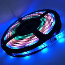 Fita Led RGB 3528 5m 300 Leds À Prova D'água + Controle - Super Led