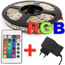 Fita Led Rgb 5050 Rolo 5m 300 Leds Ip65 + Controle + Fonte - Ry