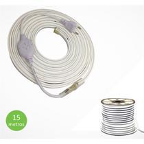 Fita Mangueira Led Neon Branco Frio 110v 15m + Adaptador - Ctb