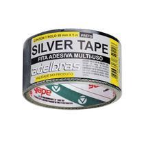 Fita Multiuso Silver Tape 48mm x 5m ADELBRAS-Preto - Multiprimer