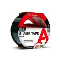Fita Multiuso Silver Tape Preta 45mm x 5m - Adere -