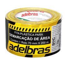Fita p/demarcação área 70mmx200m zebrada pt/am Adelbras -