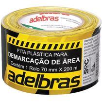 Fita Para Demarcacao De Area Zebrada Rc 70 Mmx200mx0,04mm Ad - Adelbras