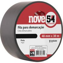 Fita para demarcação de solo 48mmx30m preta - Nove54 -