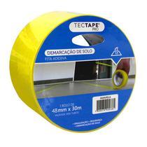 Fita para demarcação de solo 48x30 - amarelo - Tectape -