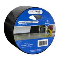 Fita para demarcação de solo 48x30 - preta - TecTape -