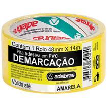 Fita para Demarcacao de Solo PVC Amarela 48MMX14MTS. - Adelbras