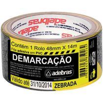Fita para Demarcacao de Solo PVC AMARELA/PRETA 48MMX14M. - Adelbras