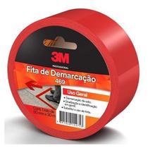 Fita para Demarcaçao de Solo Vermelha 50MM X 30M 469 3M -