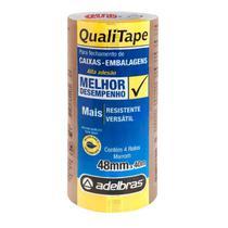 Fita para Empacotamento Qualitape 48MMX40M. Marrom PCT com 04 - Gna