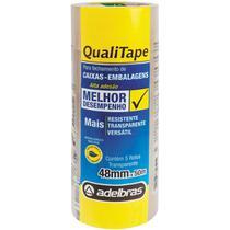 Fita para Empacotamento Qualitape 48MMX50M. TRANSP. - Adelbras