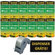Fita para empacotamento scotch 5802 trans.45x45m dispe kit c/48 - 3M